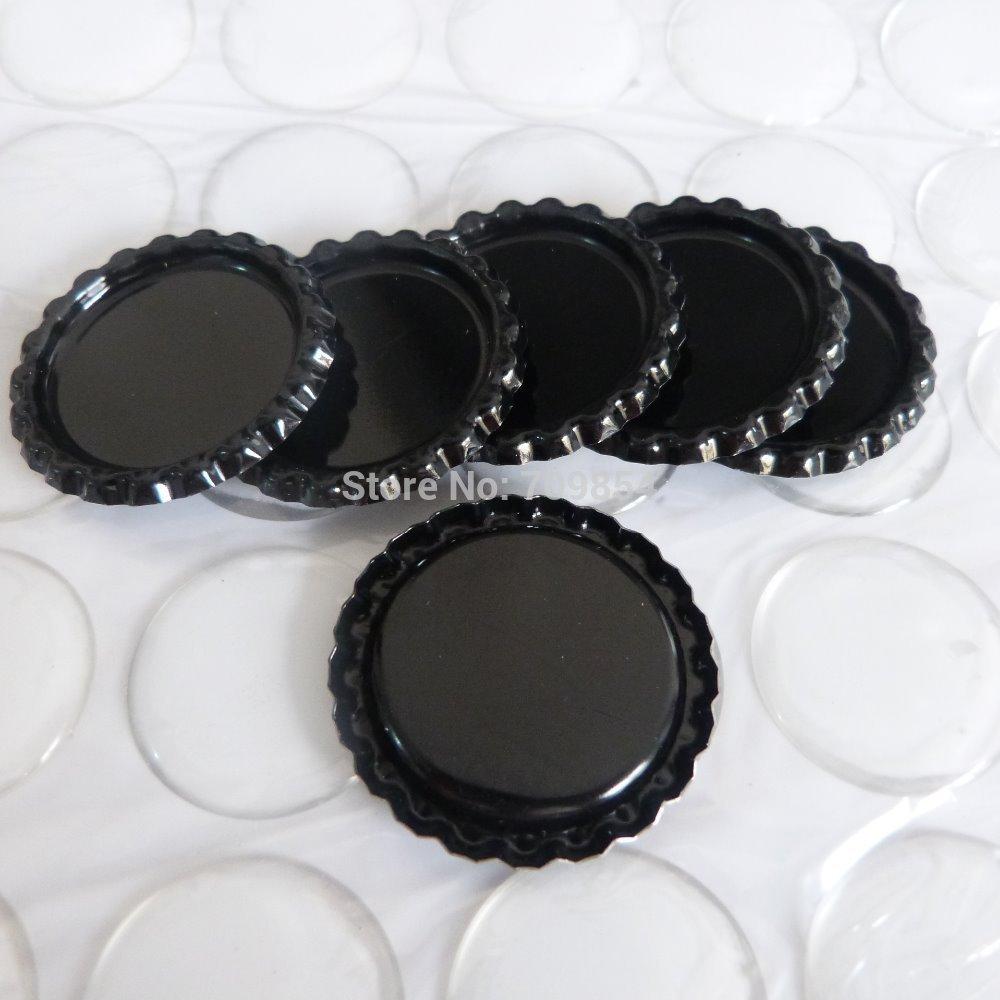 400 sets black 25MM flatten bottle caps with resin epoxy sticker jewelry findings<br><br>Aliexpress