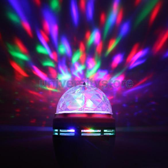 E27 Full Color Changing RGB LED Sound Activated Rotating Stage Lamp Light Bulb C(China (Mainland))