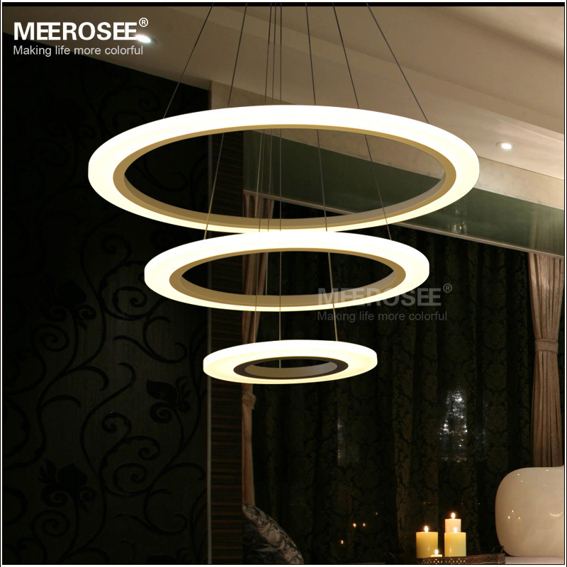 MD5057W Modern Acrylic LED light fixture decorative indoor lighting office dinning room pendant light lamp (1)