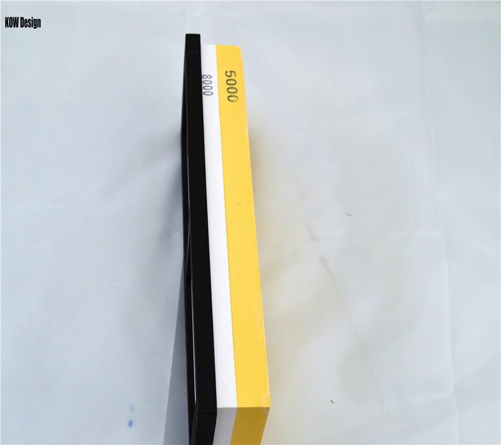 Buy High quality  double face 5000/8000 grit water whetstone ,knife sharpener whetstone 180*60*30mm 680g Sanying whetstone KOW cheap