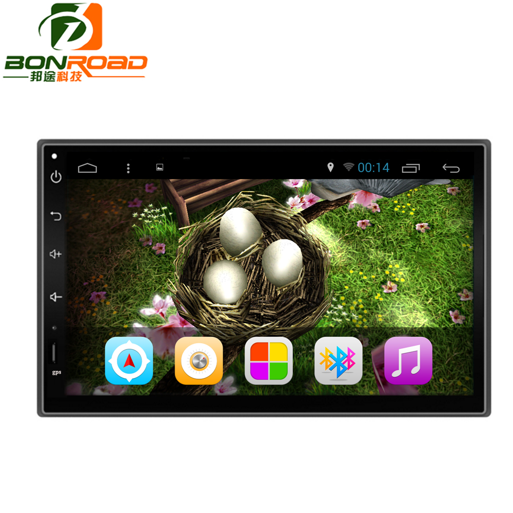 Bonroad Quad Core 1024*600 Android 6.0 For Car PC Tablet 2din Universal For Nissan GPS Navi Radio Stereo Audio Player (No DVD)(China (Mainland))