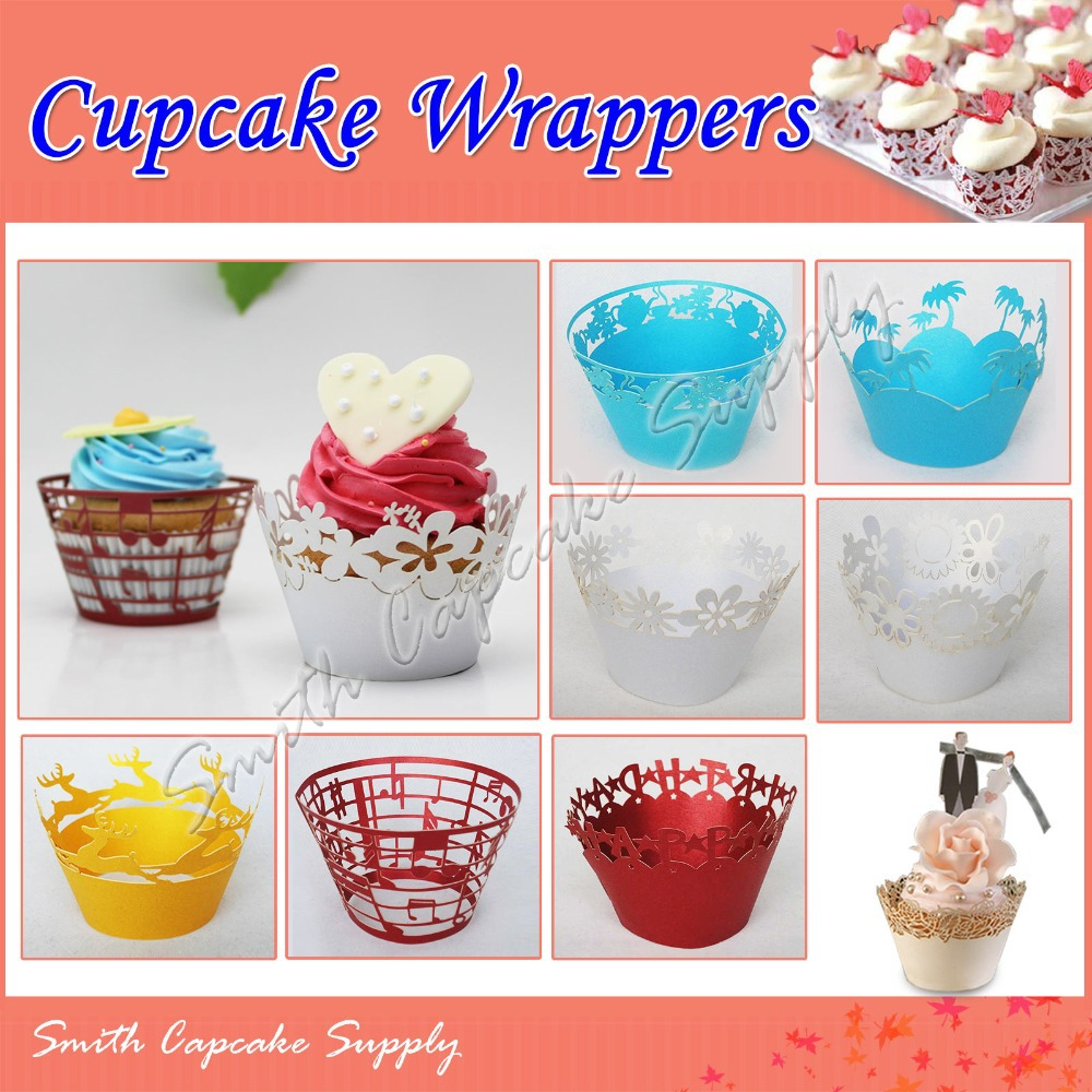 assorted 120 pcs cupcake wrappers wholesale laser cut