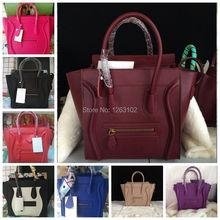 Nuovo 2015 famoso designer c marche smiley borse della linea di pianura donne del cuoio genuino borsa delle donne sacchetto del messaggio dimensione 30 26 20 cm  (China (Mainland))