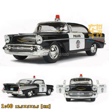 Buy High Simulation Exquisite Baby Toys CHEVROLET Bel Air 1957 Police Car 1:40 Alloy Sports Car Model Best Gift for $8.29 in AliExpress store
