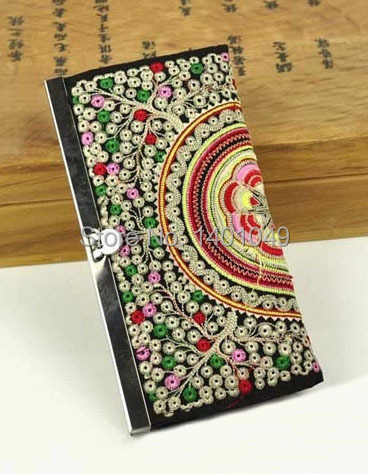 women's long pattern wallets laides' National trend purses embroidery embroidered bags ladies' card wallet(China (Mainland))