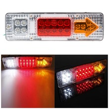 12V LED Taillight Truck Car led Rear light Indicator Turn Lamp Tail Trailer Light parking White Yellow Red Colors Changeable (China (Mainland))