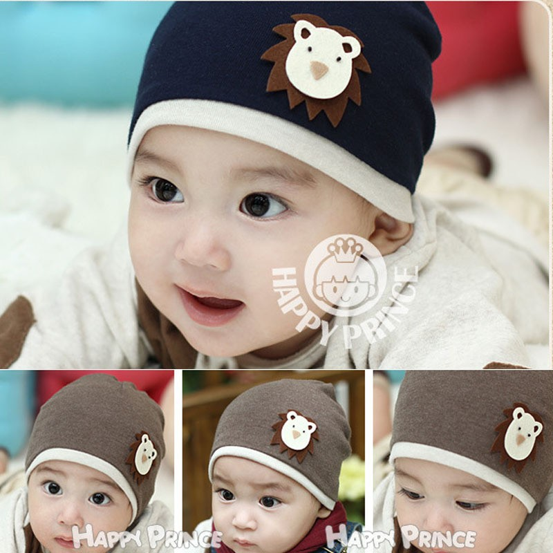 Newborn baby cap head cap/hat/children winter hat baby cap children's lion pattern cap Knitting hat Free Shipping(China (Mainland))