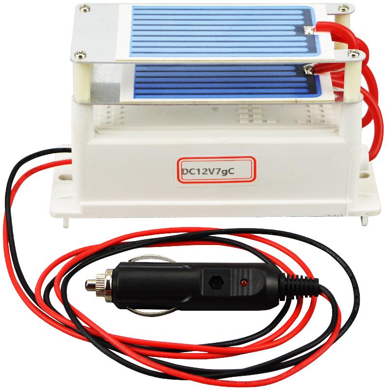 Hot Sale Ozone Generator 12v 7g Car Ozonizer Air Cleaner Ceramic Plate Sterilizer Air Freshener Car(China (Mainland))