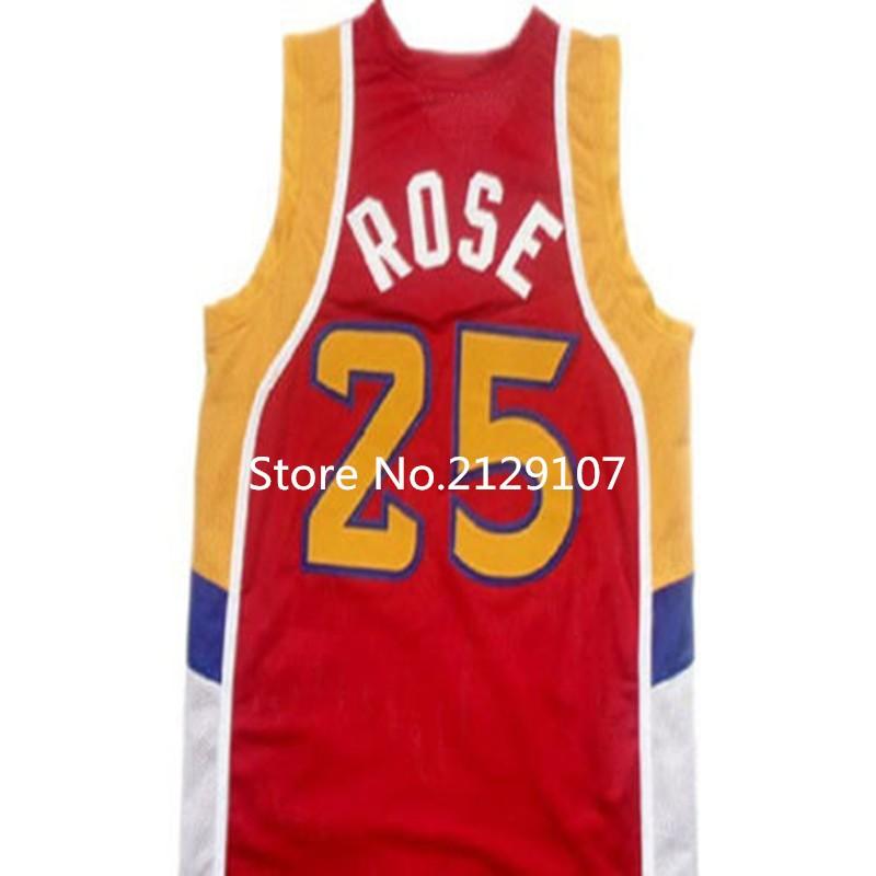 #25 DERRICK ROSE Dolphins McDonald ALL AMERICAN high quality basketball jersey #5 BARON DAVIS Retro throwback Cheap menswear(China (Mainland))
