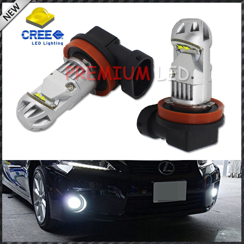 2pcs High Power Super Bright 6000K Xenon White CREE XB-D H8 H11 LED Replacement Bulbs For Fog Light Driving Lamps