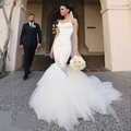 Sexy Mermaid Wedding Dress 2017 Crystal Bling Bling robe de mariage Sweethear Satin Tulle Wedding Bridal