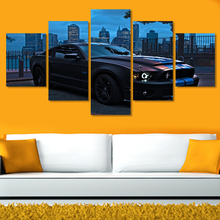2016 unframed Printed For Ford Mustang Group Painting Living Room Decor Print Picture Canvas Grant Car Wall Decals Background(China (Mainland))