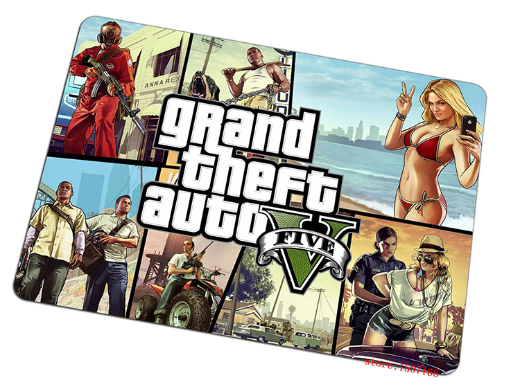 Grand Theft Auto mouse pad 2016 new pad to mouse Adorable computer mousepad gaming padmouse gamer to laptop keyboard mouse mats(China (Mainland))