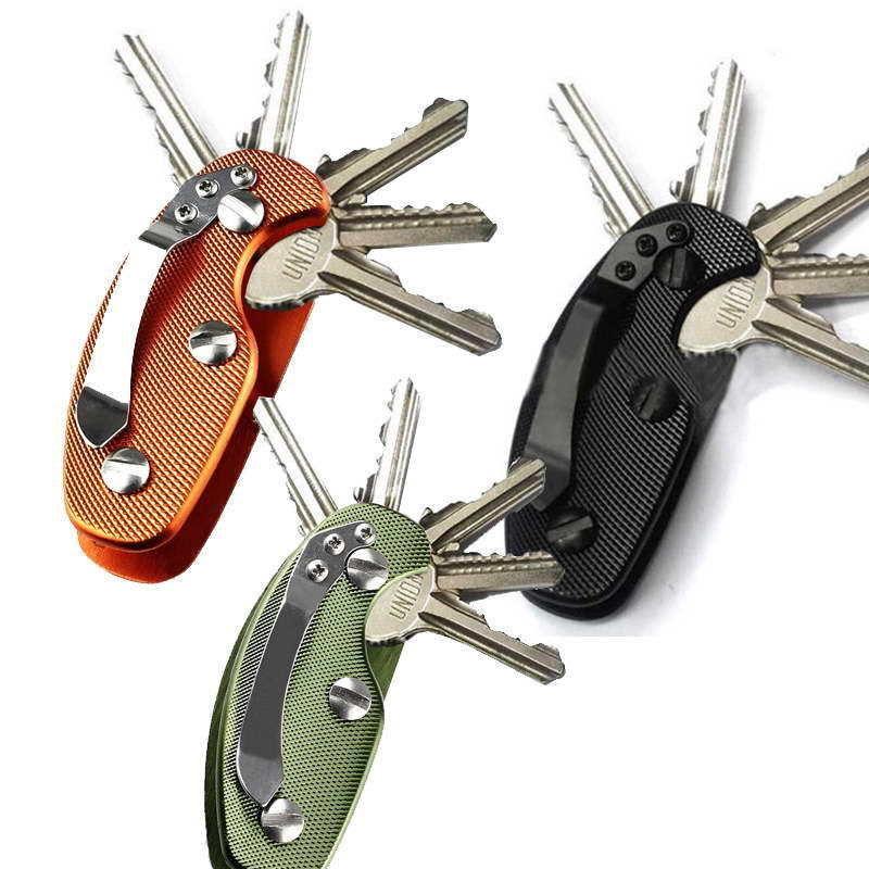 Aluminium Smart Key Holder Clip Keys folder keyring housing EDC Pocket Tools(China (Mainland))