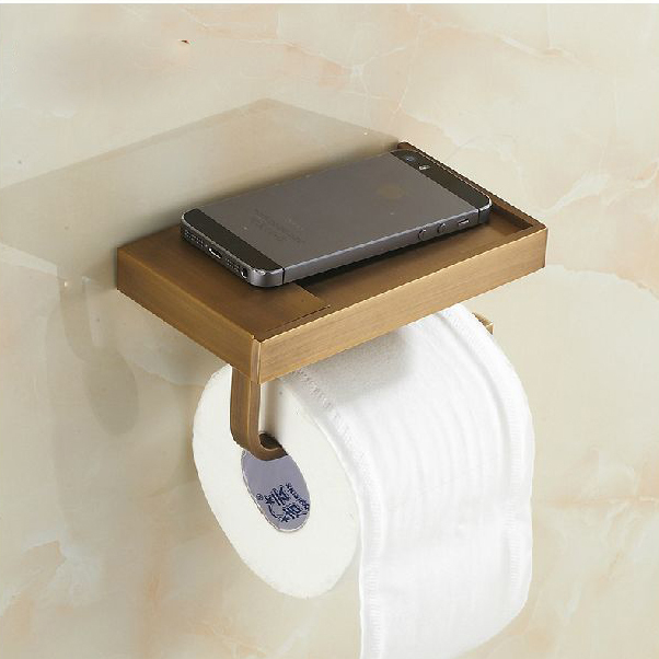 Wall Mounted Antique Brass Finish Bathroom Accessories Toilet Paper Holder Ba