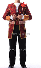 Medieval Renaissance mens costume period Vampire Halloween Costumes performance /Prince William /civil war/Colonial Belle stage