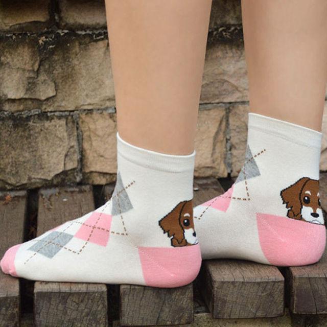 1 пара новый 3D напечатаны пятки щенок носки женщин мужская симпатичные носки несколько ...