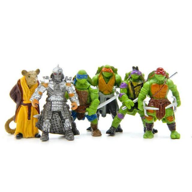 Горячие Продажи Teenage Mutant Ninja Turtles Фигурку Игрушки Мини Цифры TMNT Фигурки Классическая Коллекция Модель Набор 6 шт./лот