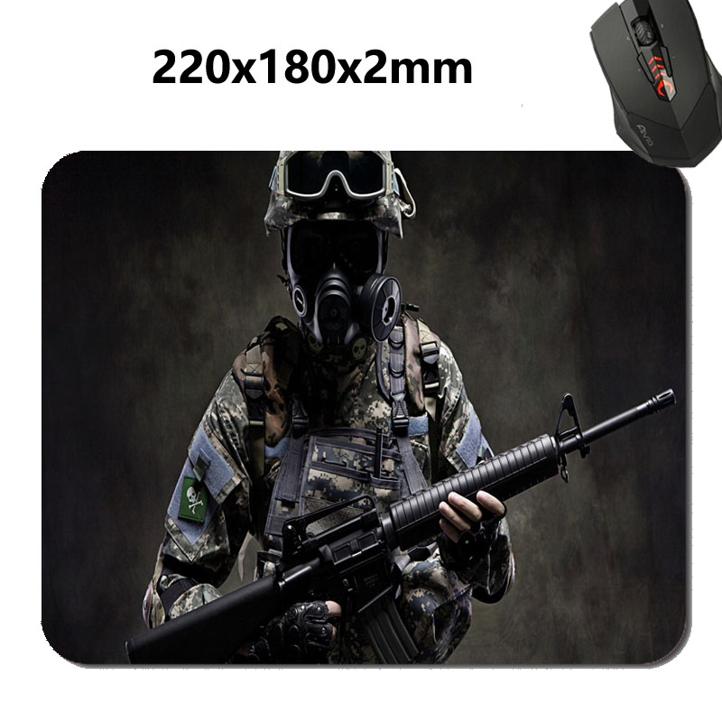 Best Price Black Rubber Mousepad CSGO Sniper Print Mouse Mat Laptop Computer Gaming Mice Pads For Optical Laster Mats(China (Mainland))