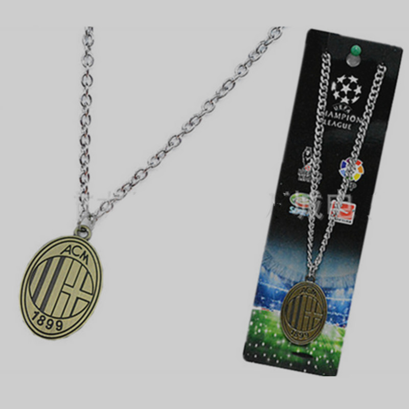 22 teams soccer Clubs teams Bronze pendant choker accessories/football fans souvenirs gift ac milan vintage necklace dog tag(China (Mainland))