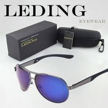 Leding marco de aleación de gafas de sol polarizadas lente hombre conduciendo gafas deportes de playa de verano Anti ultravioleta eyewear Unisex con la caja UV400 de la caja()