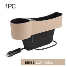Accessoires siège de voiture Gap organisateur boîte de rangement en cuir PU siège Auto fente latérale fente Stoweing et rangement clé téléphone support de tasse(China)