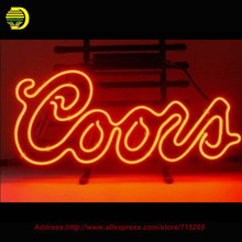 Coors Red Logo Neon Sign neon signs for bar Handcrafted Neon Bulbs Real Glass Tube Custom Lamp Bulb Resistor Flashlight 19x15(China (Mainland))