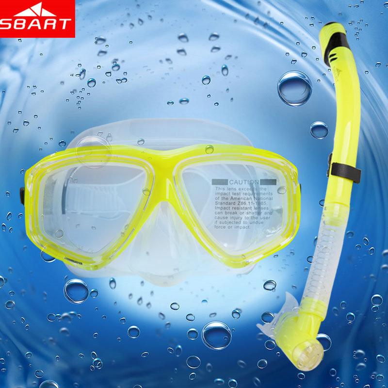 SBART Hot Diving Mask Snorkel Swimming Goggles With Snorkel Silicone Mask For Diving Equipment Set Oculos Mergulho Gafas Buceo L(China (Mainland))