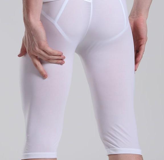 Сексуальный низкой талией брюки гей пятый брюки летние мужские пижамы