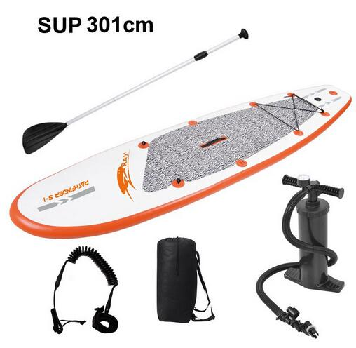 New fashion water sports inflatable surfing board surf stand up paddle 300*75.5*10cm,KAYAK,include paddle+seat+carry bag(China (Mainland))