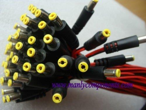 Wholesale 1000pcs  5.5*2.1mm Male Plug 12V DC Cable Power Pigtail Copper Wire