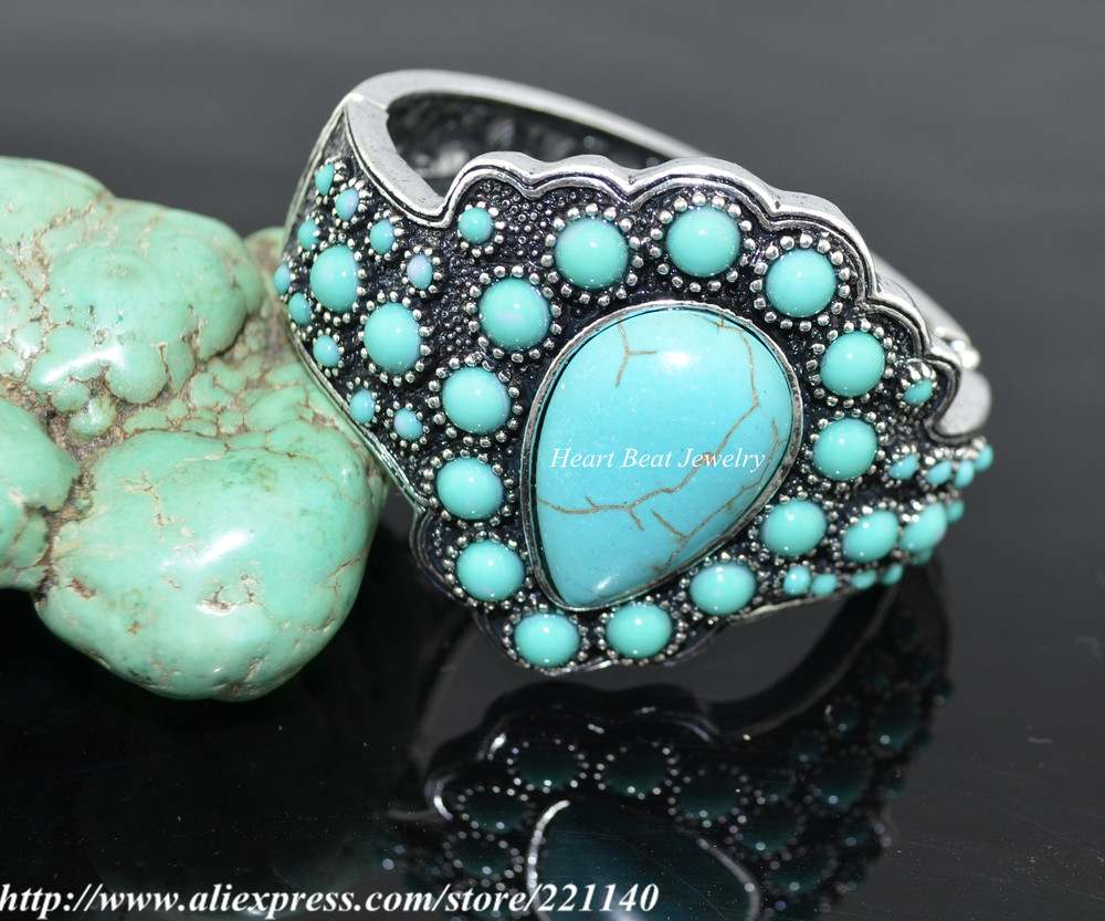 , Hot sale,Trendy Turquoise Bangle - HeartBeat Online shop store