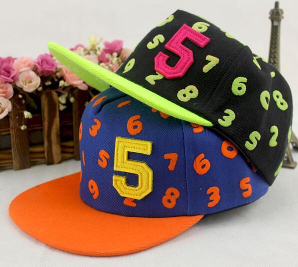 New Kids Baseball Caps Baby Hip-hop Hats Caps Fashion 0-9 Numbers Snapback Cap Boys Girls Adjustable Sun Hat(China (Mainland))