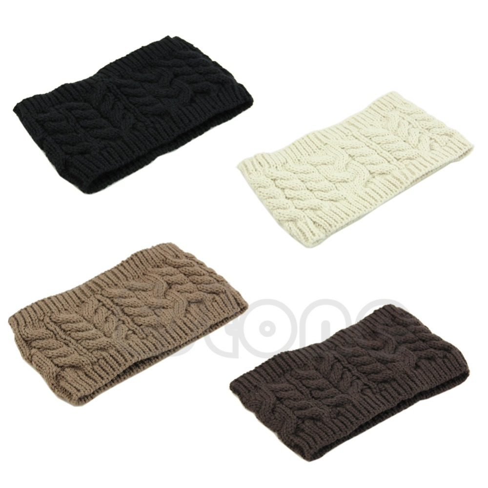 Chic Women Knitted Empty Skull Beanie HeadBand Warm Hat Lady Girl Winter Ski Cap