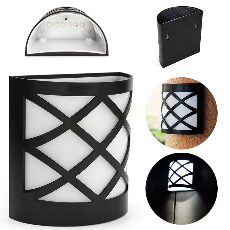 4 PACK LED Solar Light  6 LEDs WaterproofIP55 Sensor Light Outdoor Light  Path  Corridor Wall Lamp Spot Lighting LED Solar lamp