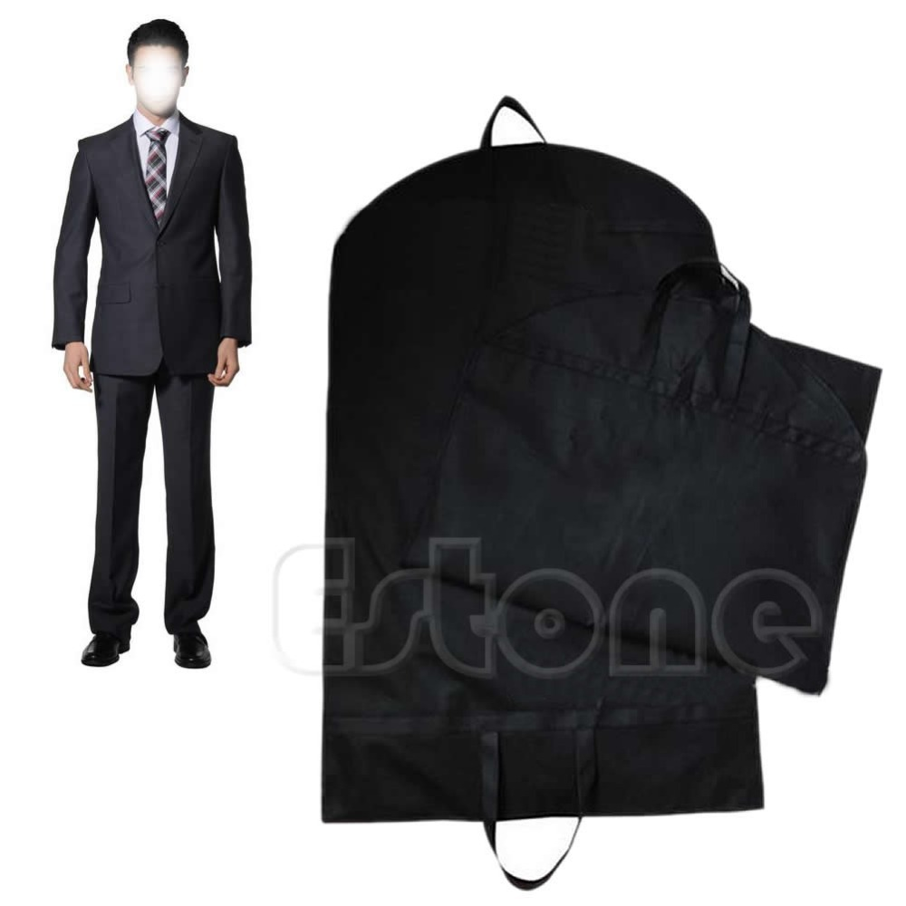 F85 Free Shipping New Suit Coat Dress Storage Garment Carrier Bag Travel Cover Hanger Protector color random(China (Mainland))