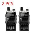 2PCS UV B2Plus cb radio 8W handy baofeng 10km mobile walkie talkie dual VHF UHF 136