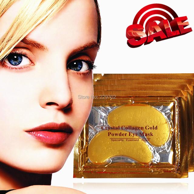 20pcs = 10 Packs Crystal Collagen Gold Powder Eye Mask Collagen Crystal Eye Masks Gold Bio-collagen Crystal Mask