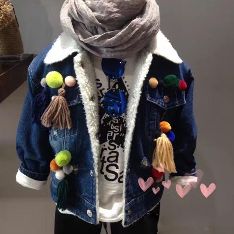 Скидки на Новые зима 2016 девушки ковбой одежда шерсть волосяная луковица пальто лацканы утолщение пальто бесплатная доставка