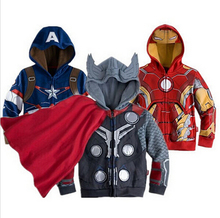2015 hildren Coat girls little pony outwear  kids Avengers Boys Lron man Hoodies Child Clothing Spiderman baby boy girl clothes(China (Mainland))