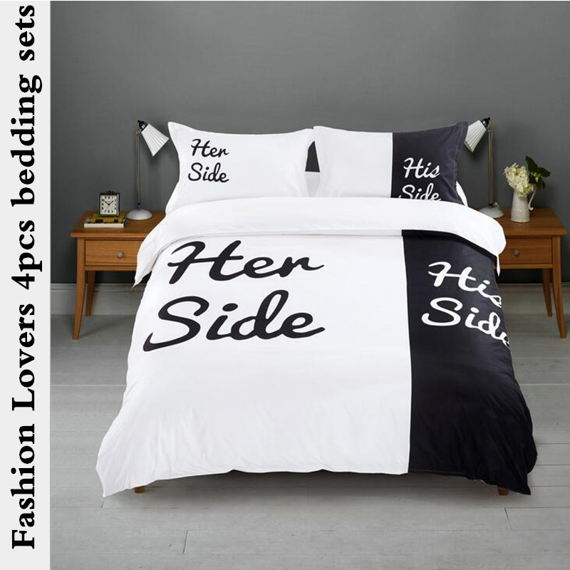 Fashion New luxury Lover bedding set duvet cover set king Queen size wedding bed set include One Quilt cover Two pillowcase(China (Mainland))