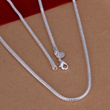 "Wholesale! Fashion 925 Silver 3mm Snake Chain Necklace 16""-24"" Wholesale 925 Sterling Silver Jewelry Necklace Chain AN192(China (Mainland))"