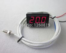 Red LED Digital 0-999C Temperature Thermocouple Thermometer Panel Meter+1m Probe Sensor M6(China (Mainland))