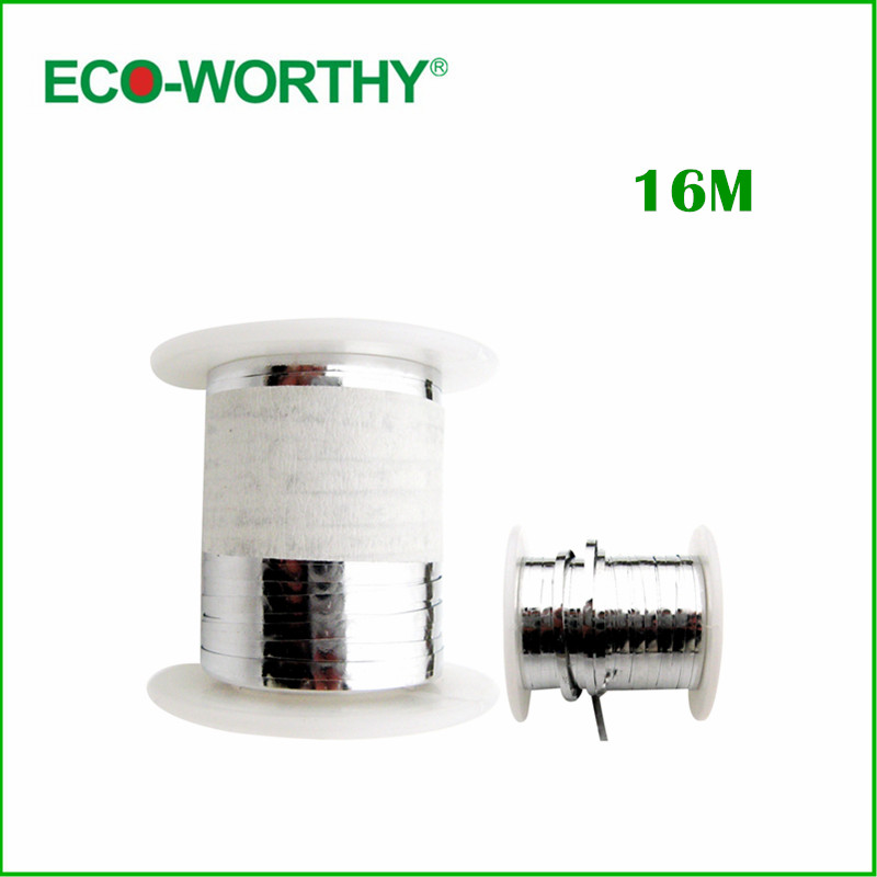 16 metro 52 pies de tabulación de alambre Panel Solar cinta soldadas alambre de tabulación Ribbon célula Solar de alambre tabulación de alambre para DIY(China (Mainland))