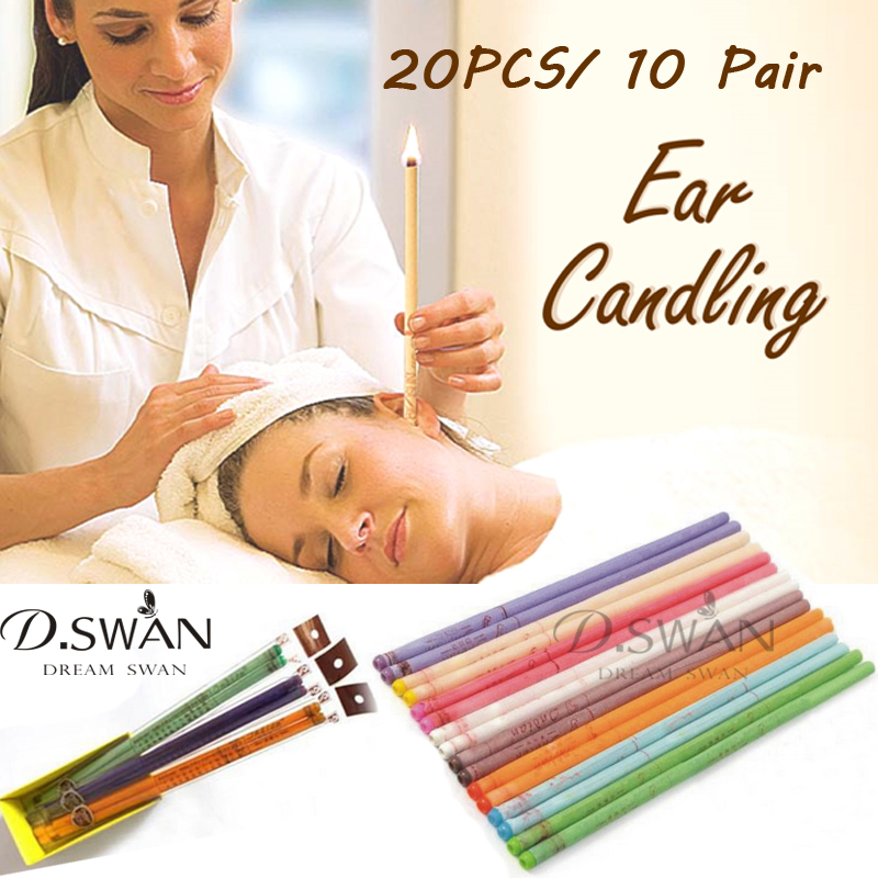 Ear Candling 20PCS Healthy Care Ear Treatment Ear Wax Removal Cleaner Ear Coning(China (Mainland))