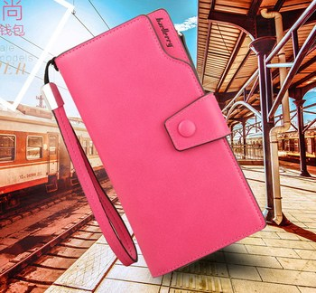 2015 new Multicolor Ms. wax leather wallet female long paragraph leather wallets Purse for women free shipping 13848-3