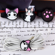3 Pcs Cute Cat Cable Organizer Plastic Cable Winder Cable Holder Headphone Earphone Organizer Wire Holder