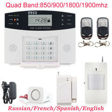 Top Quality GSM Wireless PIR Home Security Burglar Alarm Systems Auto Dialing Dialer SMS Call Free Shipping(China (Mainland))