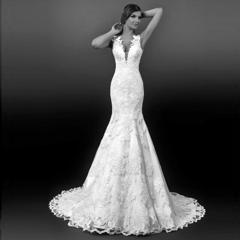 robe de mariée en Ligne à des Grossistes Guipure dentelle robe de ...