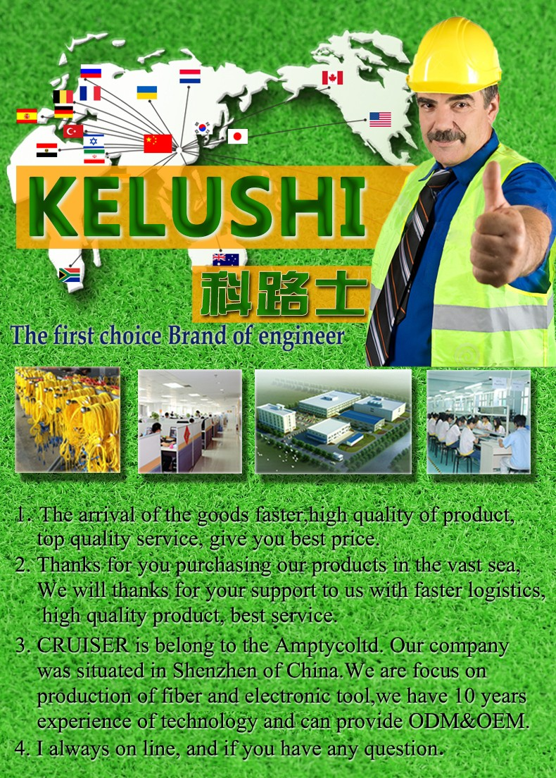 Buy KELUSHI Fiber cleaver SKL-6C Cable Cutting Knife FTTH fiber optic knife tools cutter High Precision Cleavers 16 surface blade cheap